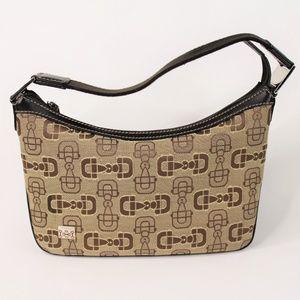 Vintage Gucci Horsebit Print Handle Jacquard Bag